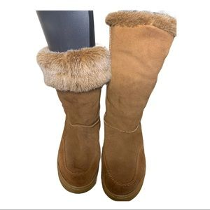 RAMPAGE faux fur boot, style Ashlee, size 9